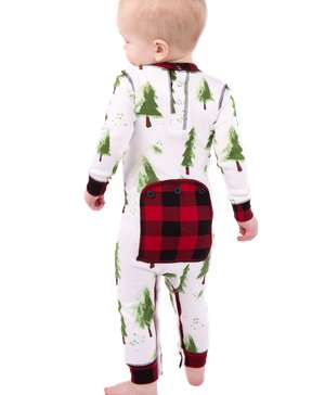 Evergreen Plaid Infant Onesie Flapjack