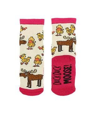 Duck Duck Moose Pink Infant Sock