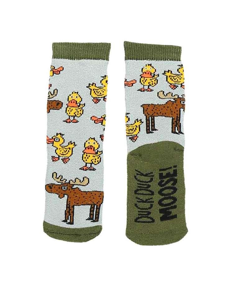 Duck Duck Moose Grey Infant Sock