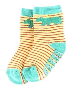 Bear Stripe Girl Infant Sock