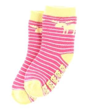 Moose Stripe Pink Infant Sock