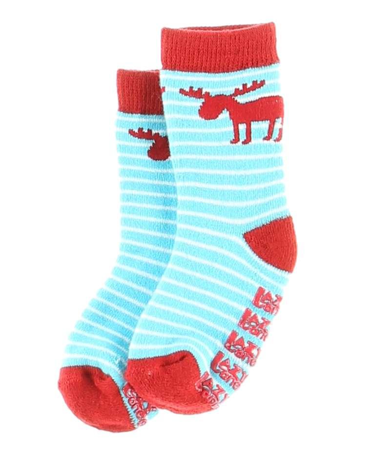Moose Stripe Infant Sock