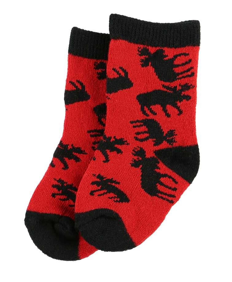 Classic Moose Red Infant Sock