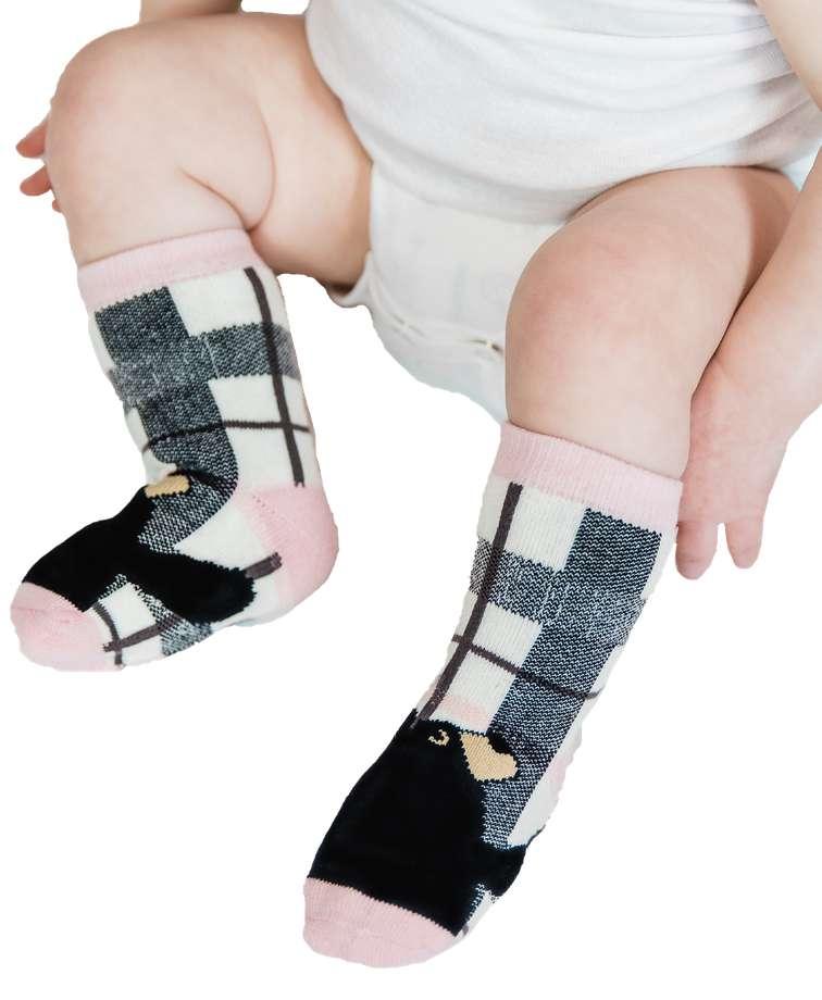 Bear Hug Pink Infant Sock