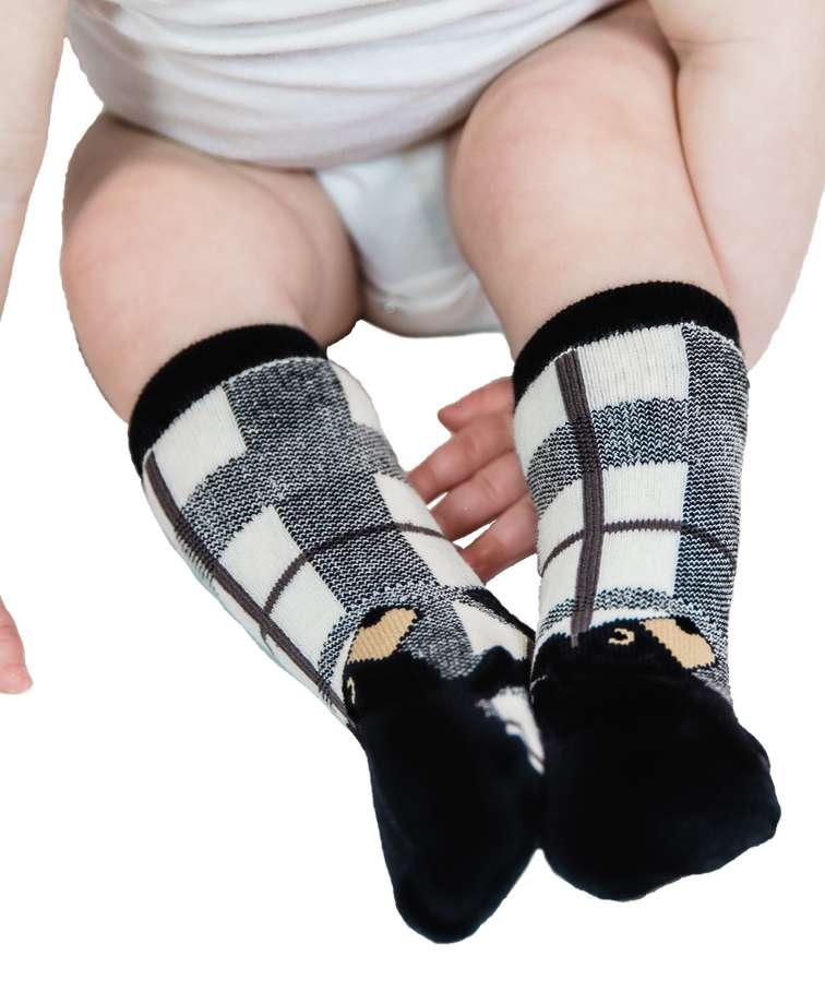 Bear Hug Grey Infant Sock