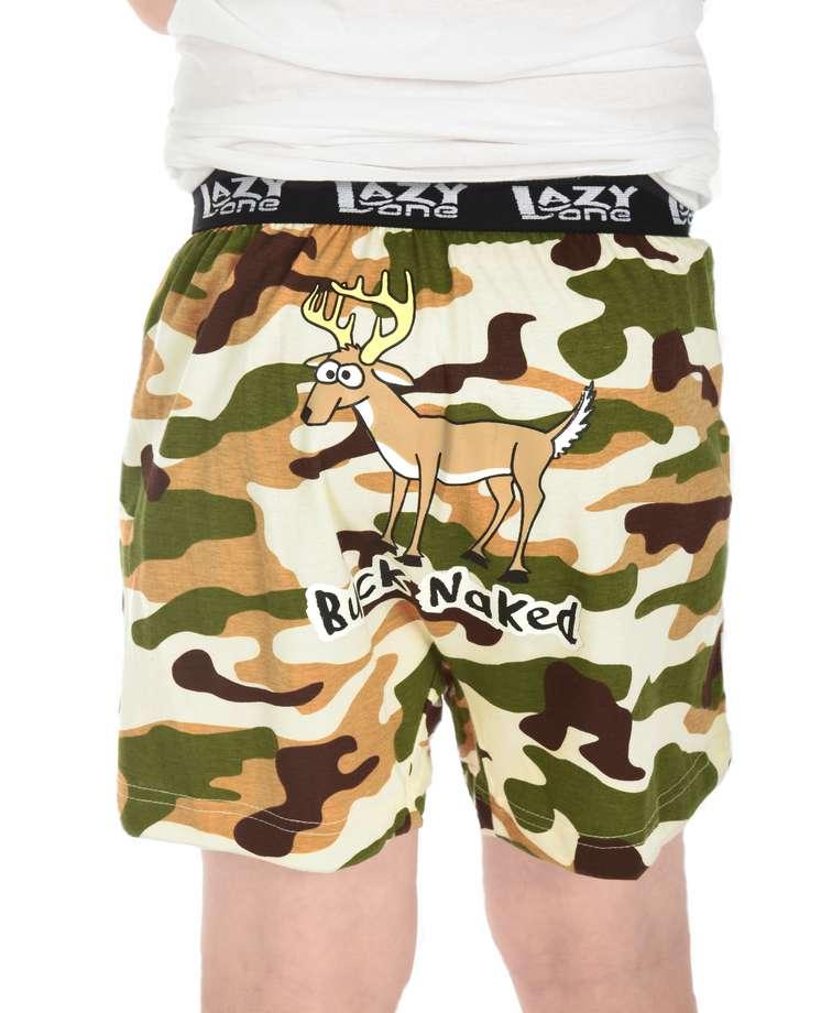 Buck Naked Camo Deer Kid Funny Boxer