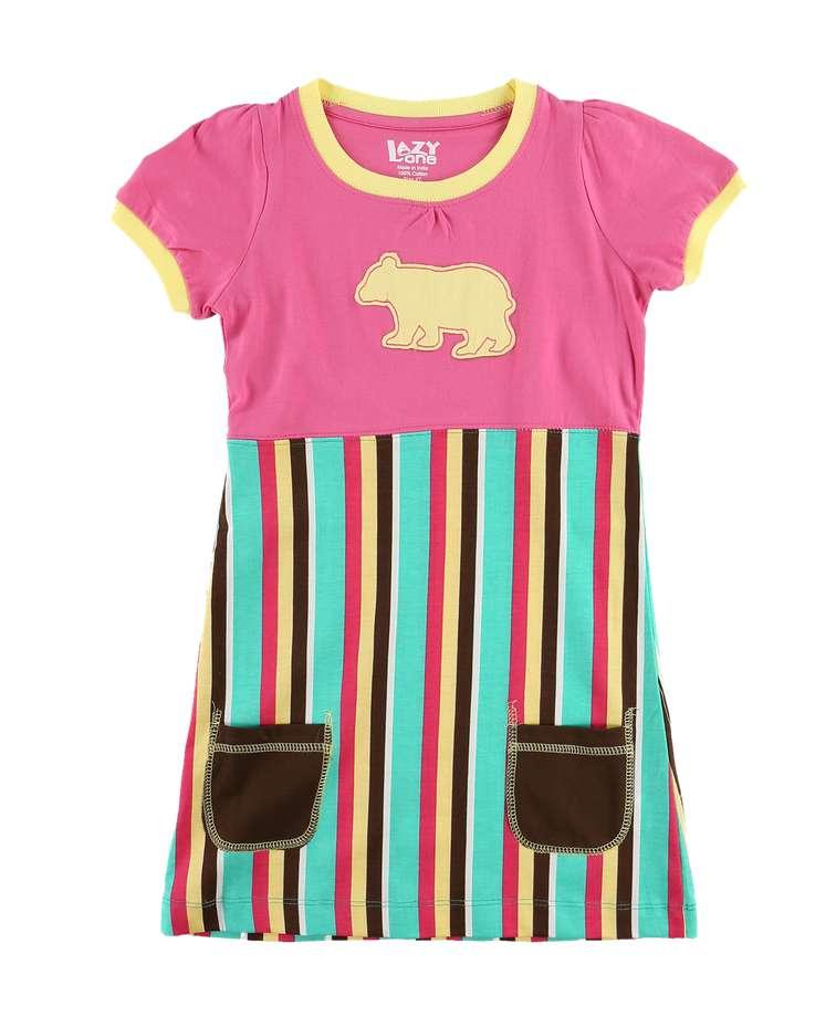 Bear Stripe Kid's Tee Dress
