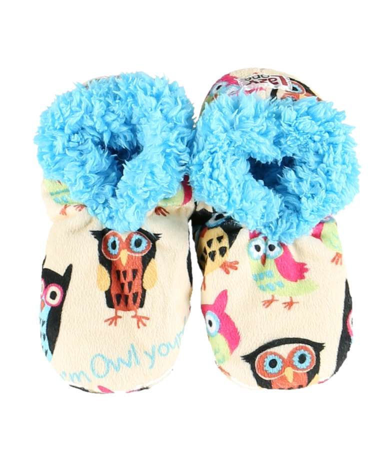 Owl Yours Kid Fuzzy Feet Slippers