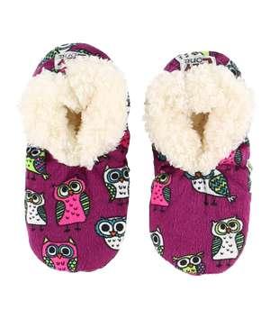 Night Owl Kid's Fuzzy Feet Slipper