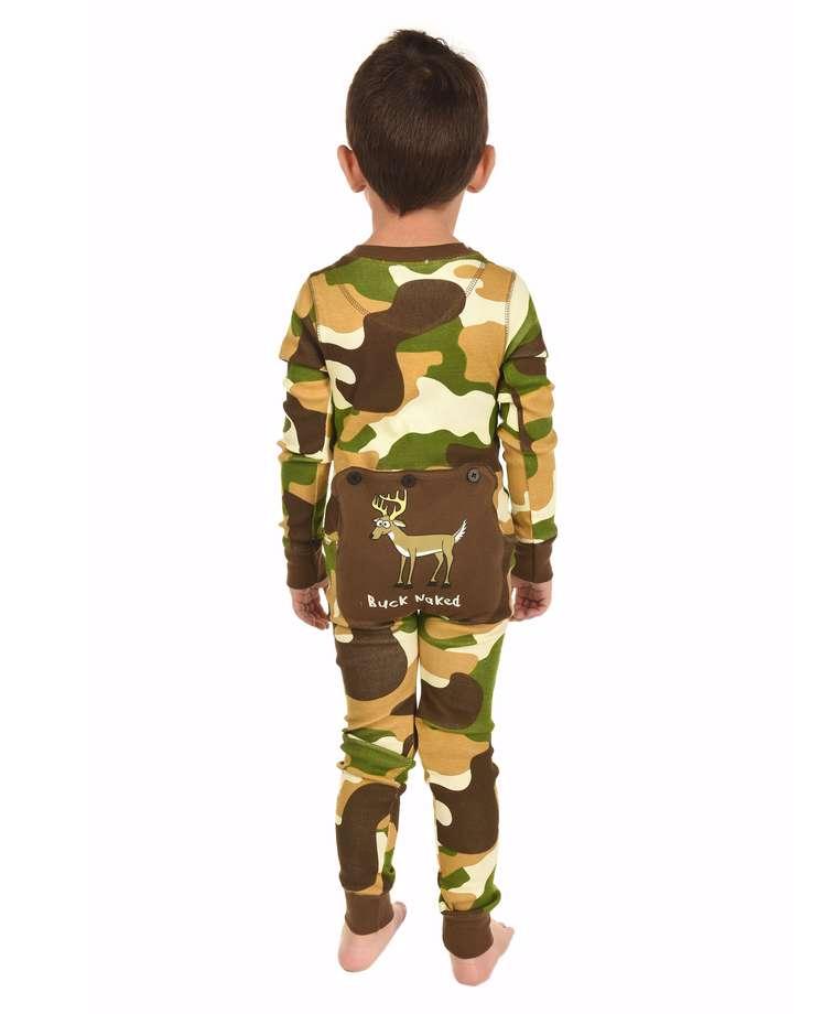 Buck Naked Kid Green Camo Onesie Flapjack