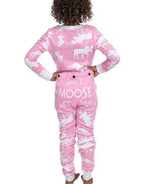 Classic Moose Kid Pink Onesie Flapjack