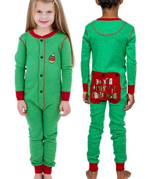 Don't Open Til Christmas Kid Onesie Flapjack