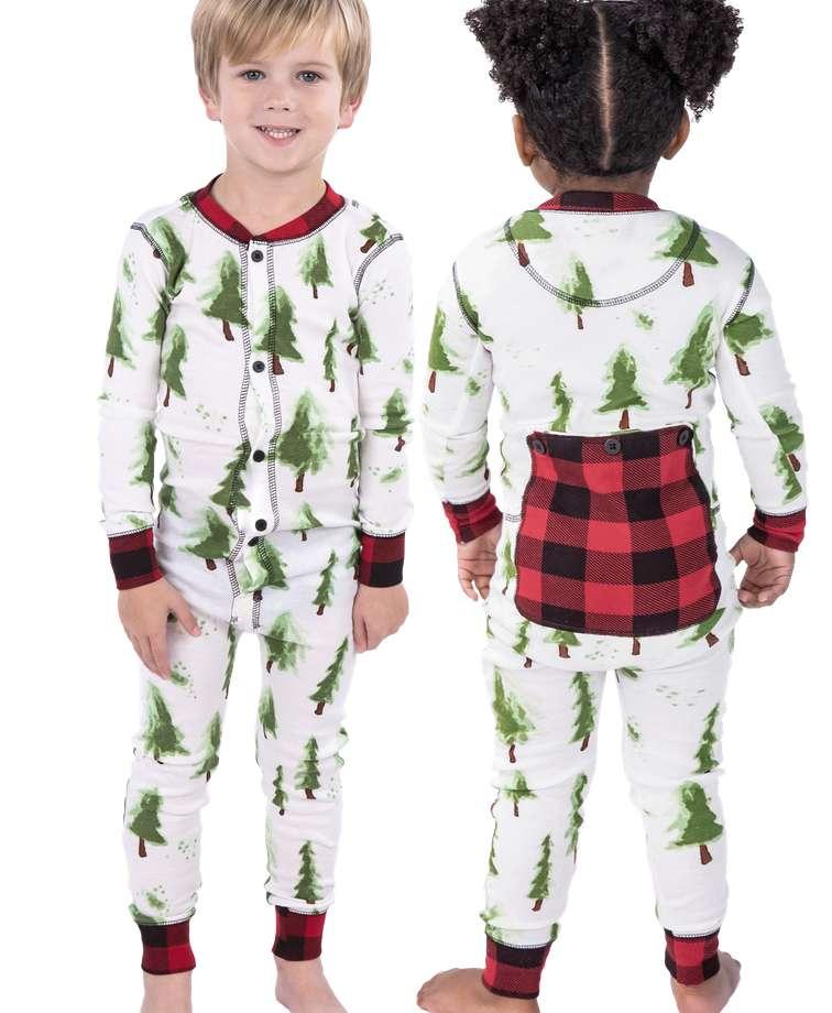 Evergreen Plaid Kid Onesie Flapjack
