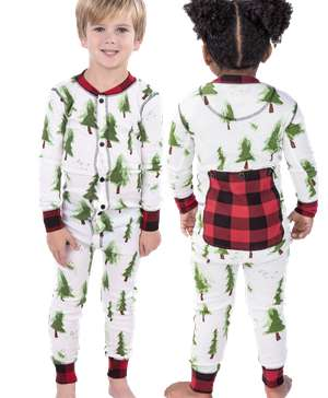 Evergreen Plaid Kid Onesie Flapjack