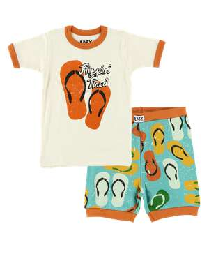 Flippin' Tired Kid's PJ Short Set