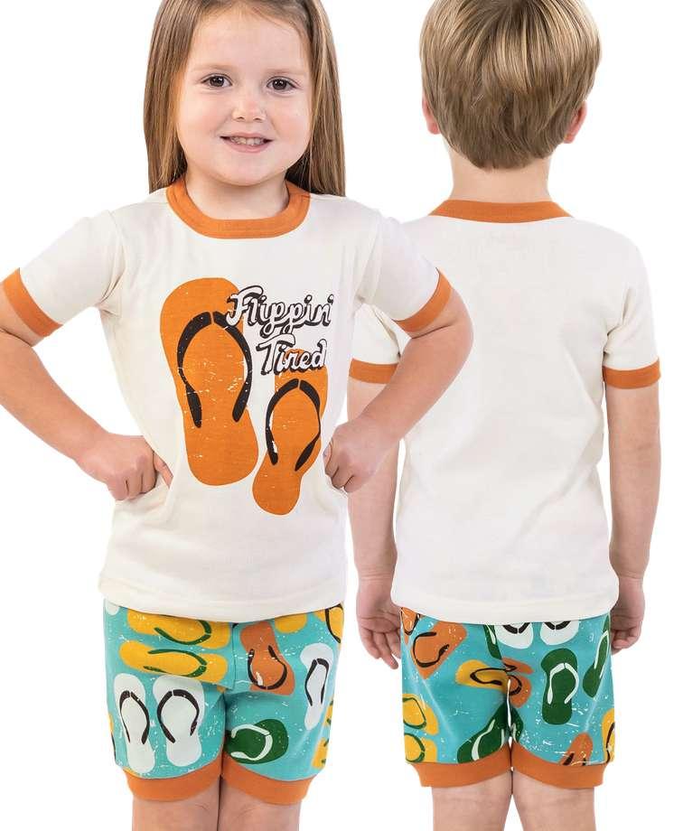 Flippin' Tired Kid's PJ Short Set