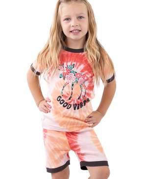 Good Vibes Kid's PJ Short Set
