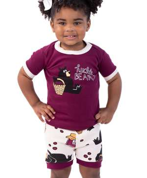 Hucklebeary Kid's PJ Short Set