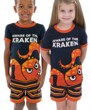 Beware Of The Kraken Kid's Octopus PJ Short Set