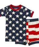 Stars & Stripes Kid's PJ Short Set