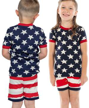 Stars & Stripes Kid's PJ Short Set