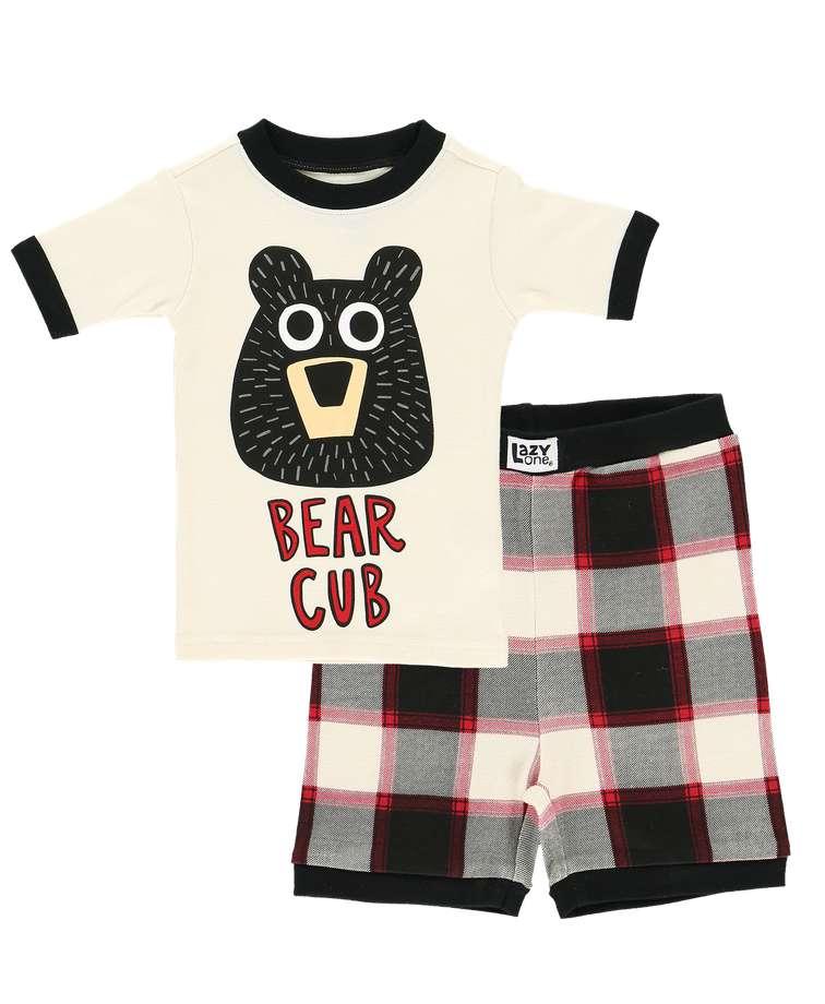 Bear Cub Kid's PJ Short Set