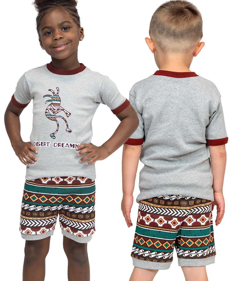 Desert Dreamin Kid's Kokopelli PJ Short Set