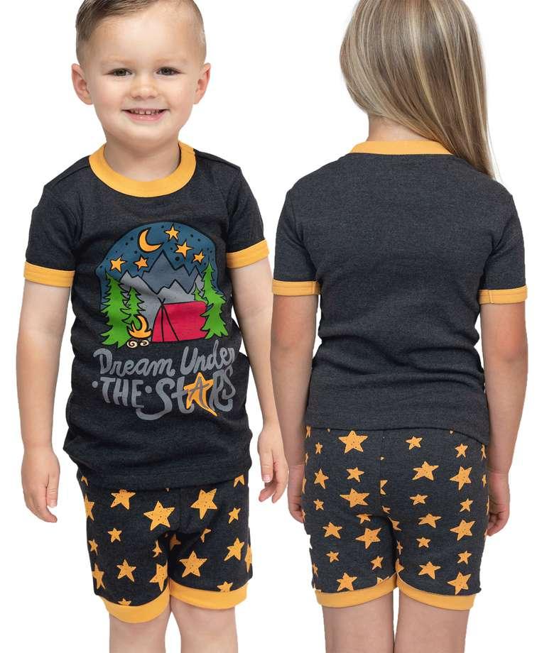 Dream Under the Stars Kid's PJ Camping Short Set