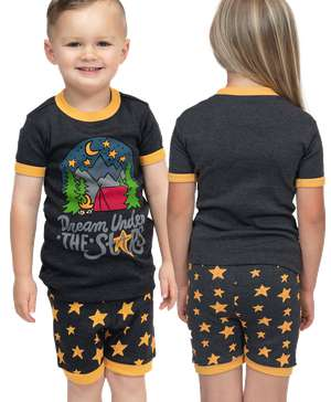 Dream Under the Stars Kid's PJ Camping Short Set