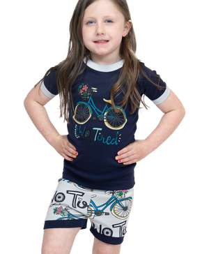 Two Tired Kid's Bike PJ Short Set
