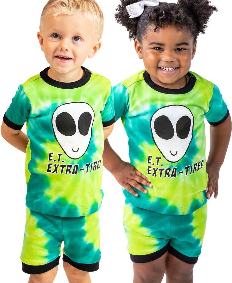 Extra Tired Kid's PJ Short Set