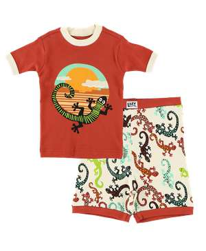 Gecko Kid's PJ Short Set
