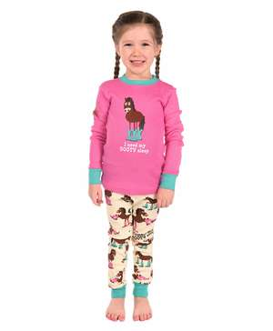 Booty Sleep Kid's Long Sleeve Horse PJ's