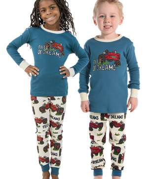Field of Dreams Kid's Long Sleeve Tractor PJ's