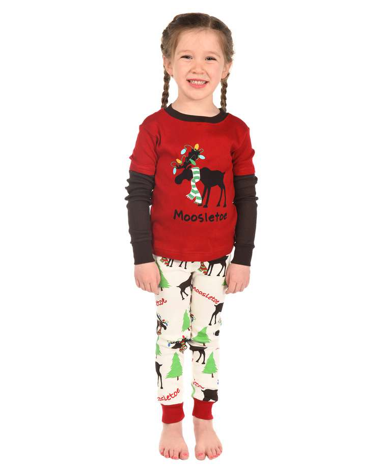 Moosletoe Kid's Long Sleeve Christmas PJ's (C)