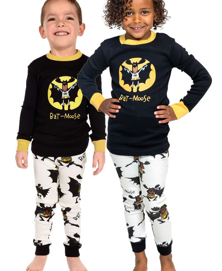Bat-Moose Kids Long Sleeve PJ's