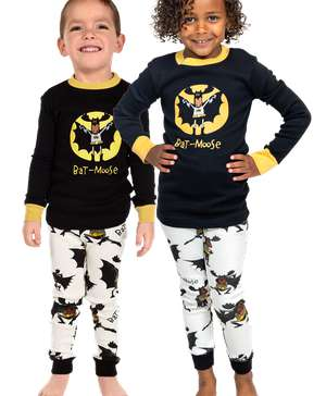 Bat-Moose Kids Long Sleeve PJ's