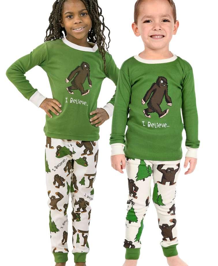 I Believe...Bigfoot Kid's Long Sleeve PJ's