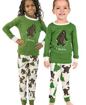 I Believe...Bigfoot Kid's Long Sleeve PJ's