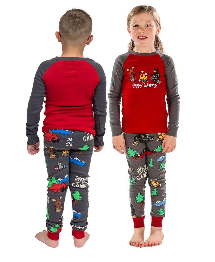 Happy Camper Kid's Long Sleeve PJ's