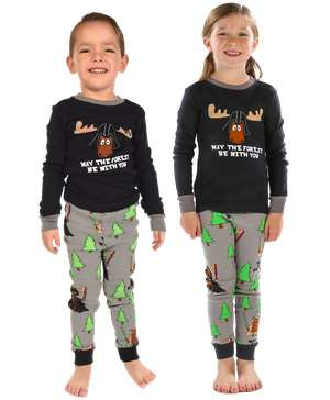 May The Forest Be With You Kid's Long Sleeve PJ's