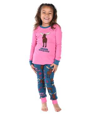 I Moose Have A Kiss Kid's Long Sleeve Moose PJ's