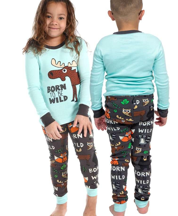 Born To Be Wild Kid's Long Sleeve Critter PJ's