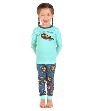 Otterly Exhausted Kid's Long Sleeve PJ's