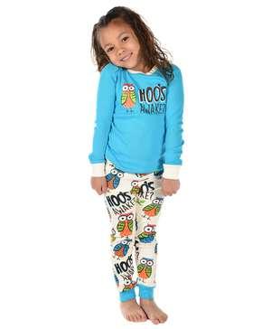 Hoo's Awake Kid's Long Sleeve Owl PJ's