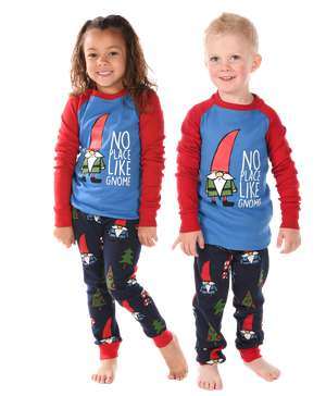 No Place Like Gnome Kid's Long Sleeve PJ's