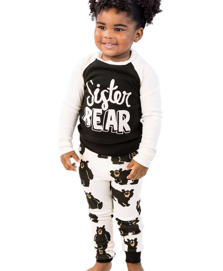 Sister Bear Kid's Long Sleeve PJ's
