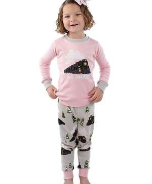 All Aboard Pink Kid's Long Sleeve PJ's