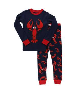 Lobster Kid's Long Sleeve PJ's