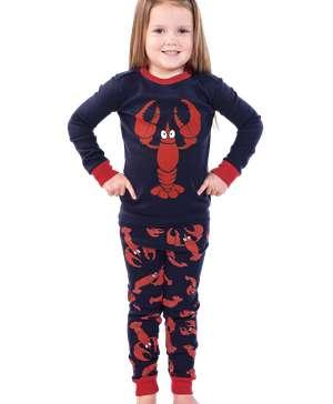 Lobster Kid's Long Sleeve PJ's